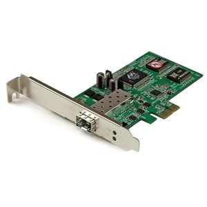 Connect a PCI Express-based desktop or rackmount PC directly to a fiber optic network using the Gigabit SFP of your choice