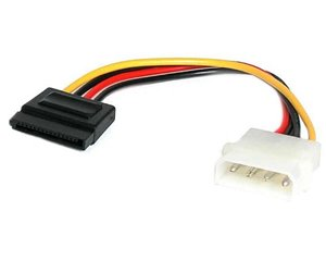 StarTech.com 6in 4 Pin Molex to SATA Power Cable Adapter