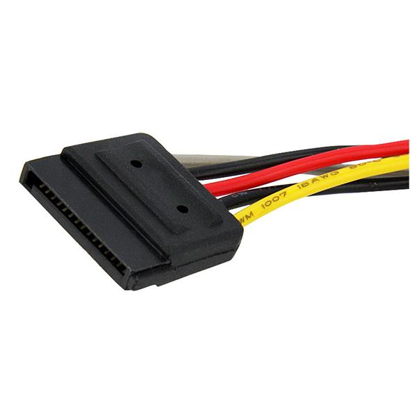 Brilliant Startech Com Pyo2Sata 6In Sata Power Y Splitter Cable Adapter M F Wiring 101 Cabaharperaodorg