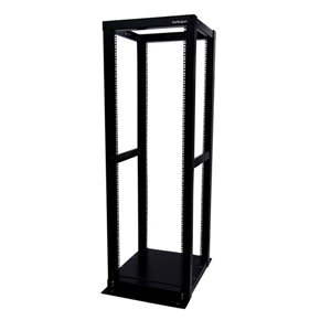 Store your servers, network and telecommunications equipment in this adjustable 36U open-frame rack