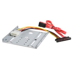 Mount a 2.5in SATA hard drive to any computer with an available 3.5in bay