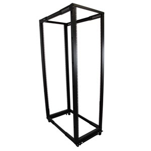 Store your servers, network and telecommunications equipment in an adjustable 42U open-frame rack