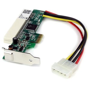 Install half-height/low profile PCI interface cards in a standard PCI Express expansion slot