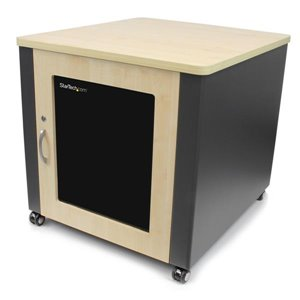 Store your servers, network and telecommunications equipment securely, in this sound-insulated acoustic cabinet with stylish wood finish