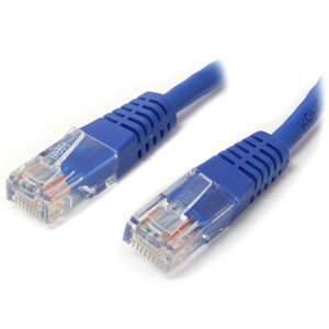 Make Fast Ethernet network connections using this high quality Cat5e Cable, with Power-over-Ethernet capability