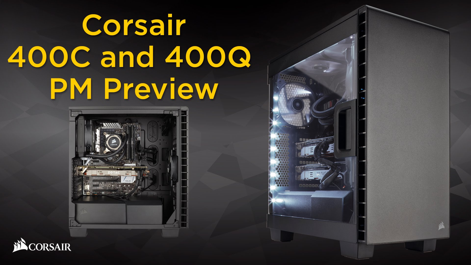sale retailer fa53a 440c1 Corsair Carbide Series Clear 400C Compact Mid-Tower Case