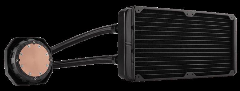Ein 280-mm-Radiator und zwei SP140L PWM-Lüfter liefern die überragende Kühlleistung, die Sie für stark übertaktete CPUs benötigen.