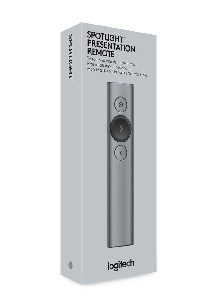 cb6c144efd7 Logitech Spotlight Bluetooth/RF Grey wireless presenter 910-004861