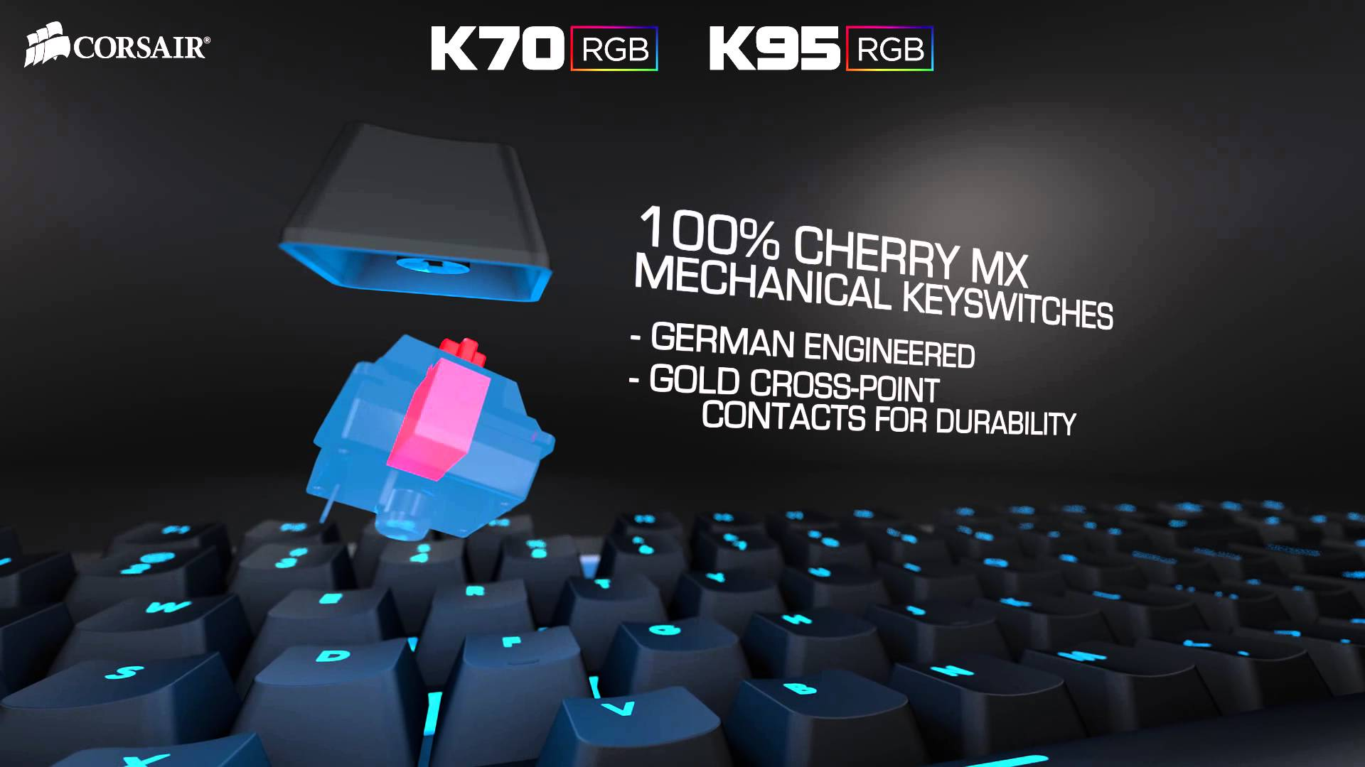 slide 1 of 9,show larger image, introducing the corsair k70 rgb and k95 rgb