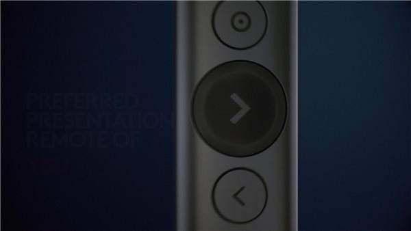 Grey Logitech 910-005166 Spotlight Plus Presentation Remote Control