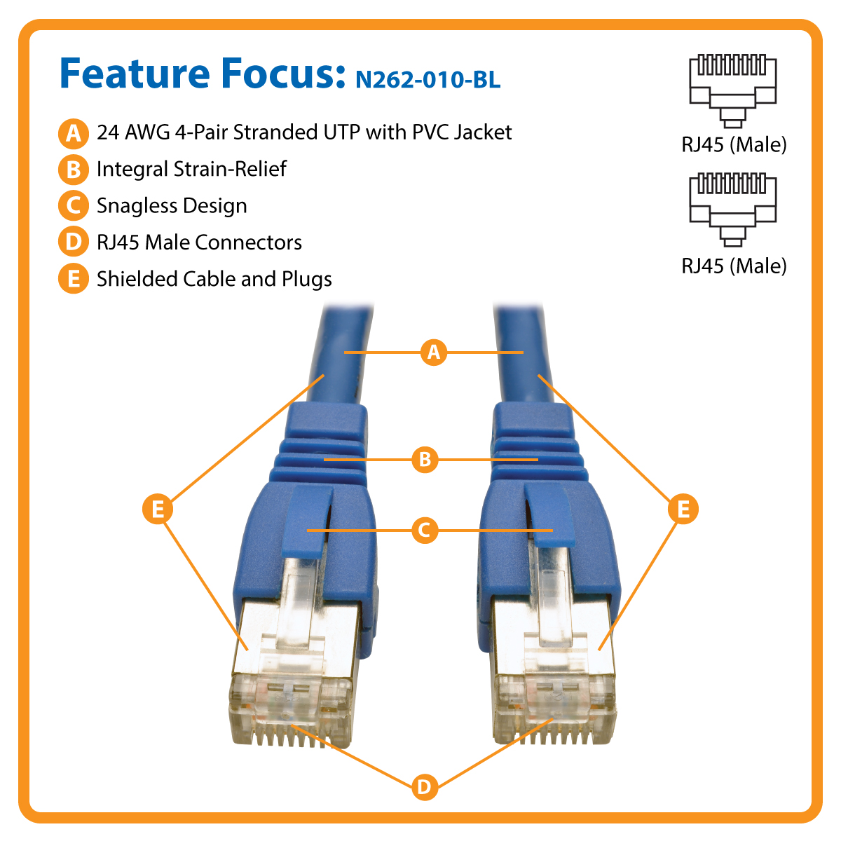 Tripp Lite Patch Cable Cat6a Stp Snagless 3m Blue N262 Cat5e Rj45 Ethernet Shielded 26 Awg Pvc Jacket Gray 150 Ft Augmented Cat6 Twisted Pair 10g Certified