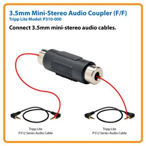 3.5mm Mini Stereo Audio Coupler (F/F)