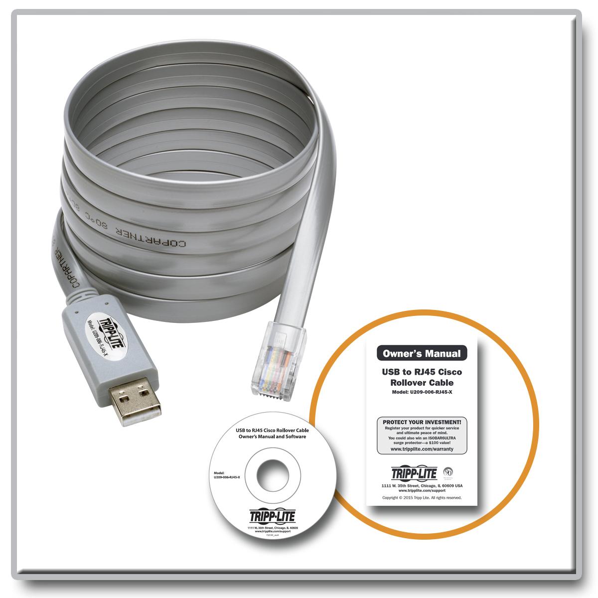 tripp lite usb to rj45 cisco serial rollover cable usb type a rj45 m
