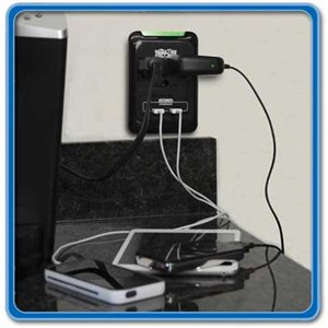 Convert Your Wall Outlet into Three Surge Protected Outlets Plus Two 2.1 Amp USB Charging Ports!