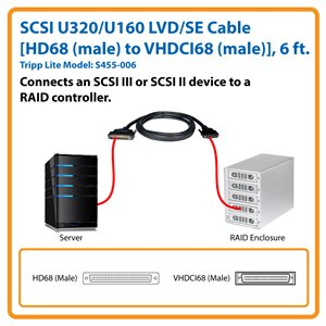 Connect Advanced SCSI Peripherals to RAID Controllers