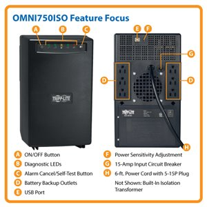 Line-Interactive, 750VA/500W Power Protection with Built-In Isolation Transformer