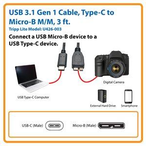 Nilox nx080200130/usb3.1//°C Black USB Micro B Cable Adapter/ / usb3.1//°C, USB Micro B Cable Adapter, Male//Female, Black, 10/Gbit//s