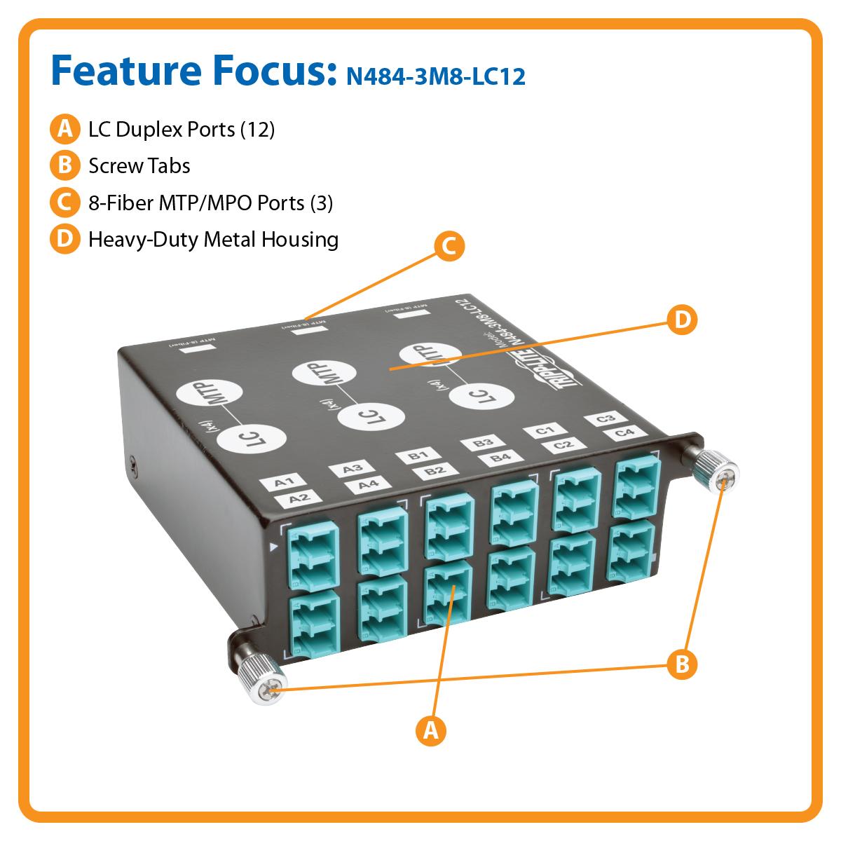 Tripp Lite 40 Gb To 10 Breakout Cassette X3 8 Fiber Om4 Mtp Plenum Optic Cable Gigabit Ethernet Qsfp 40gbasesr4 Mpo X12 Lc Duplex Canada