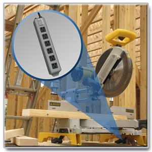 6-Outlet, Heavy-Duty Power Strip for Industrial Applications