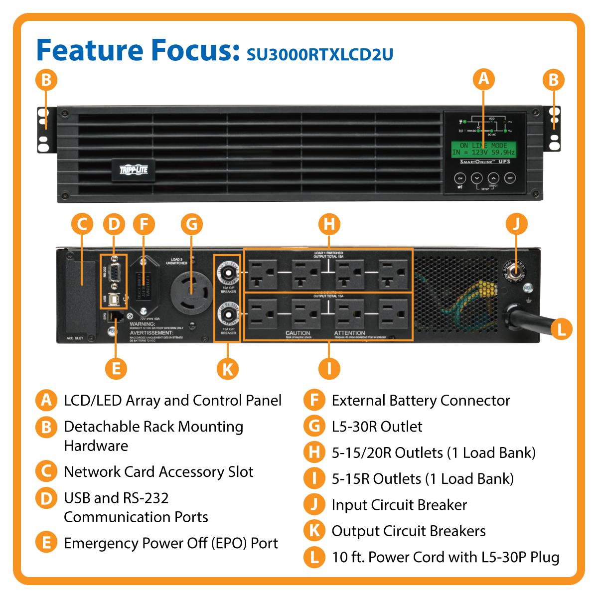 Tripp Lite 3000va 2700w Ups Smart Online Lcd Rackmount 100 120v Usb Rack Mounted Wiring Diagram Media