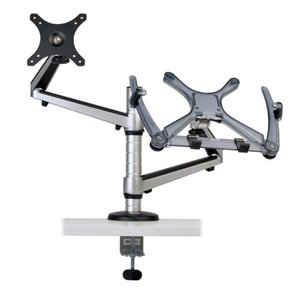 "Full-Motion Dual Desk Clamp for 13""-27"" Flat-Screen Displays and 15"" Laptops"