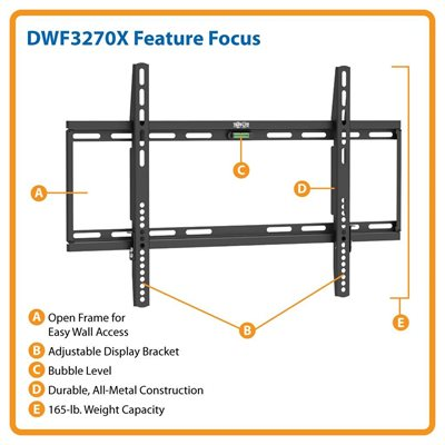 "Ideal For 32""-70"" Displays – This Fixed Wall Mount is Simple to Install & Guaranteed to Last!"