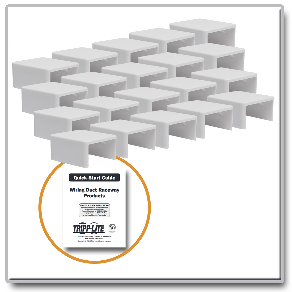 Provantage Tripp Lite N080 C25 St Wh Raceway Straight Connector For Wiring Cable Duct 20 Pack White