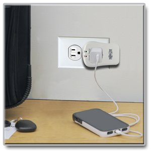 Compact, Single-Outlet Surge Protection and Tel/DSL Protection for Portable Electronics
