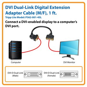 Extends the Connection Between Your Computer and a DVI-D Monitor