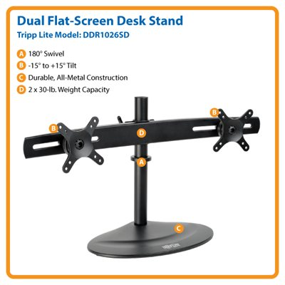 "Ideal For Two 10""- 26"" Displays – This Desk Mount is Simple to Install & Guaranteed to Last!"