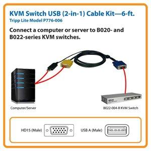 B020- & B022- KVM Switch 6 ft. Cable Kit