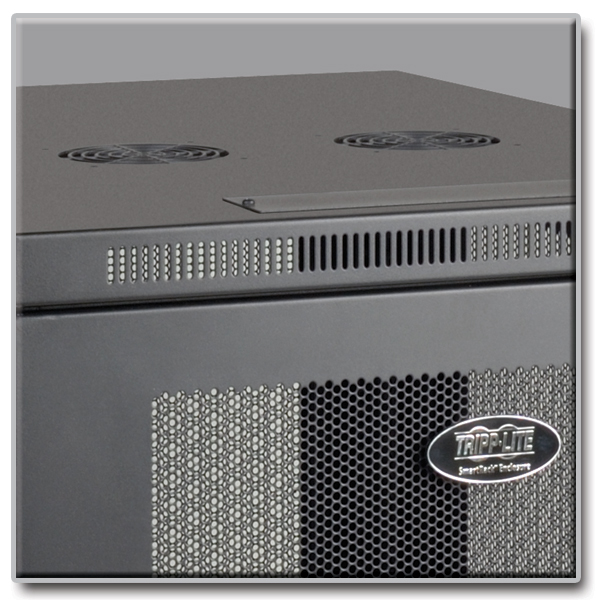 Tripp Lite 24U Rack Enclosure Server Cabinet 33 Deep w Doors Sides ...