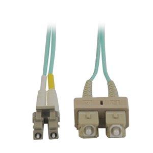 10Gb Duplex MMF 50/125 OM3 LSZH 33 ft. Fiber Patch Cable with LC/SC Connectors