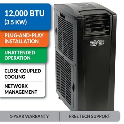SRCOOL12K 12,000 BTU Portable Air Conditioning Unit with Network Management Support