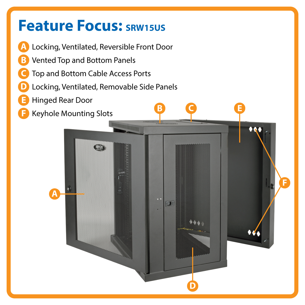 side low mount heavy enclosure rack tripp cabinet removable panels x wall trl lite product profile equipment duty