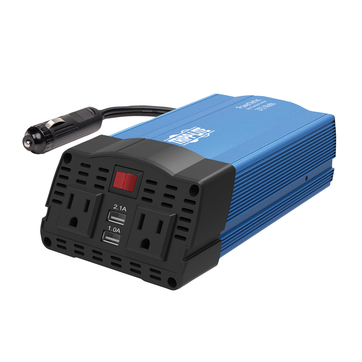 200 Watt Power Inverter Car Adapter tripp lite 375w ultra-compact car power inverter with 2 ac outlets, 2 usb  charging ports ac to dc - dc to ac power inverter - 375 watt