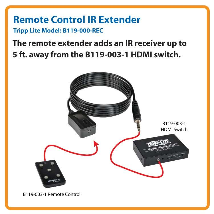 Remote Control IR Extender for the B119-003-1