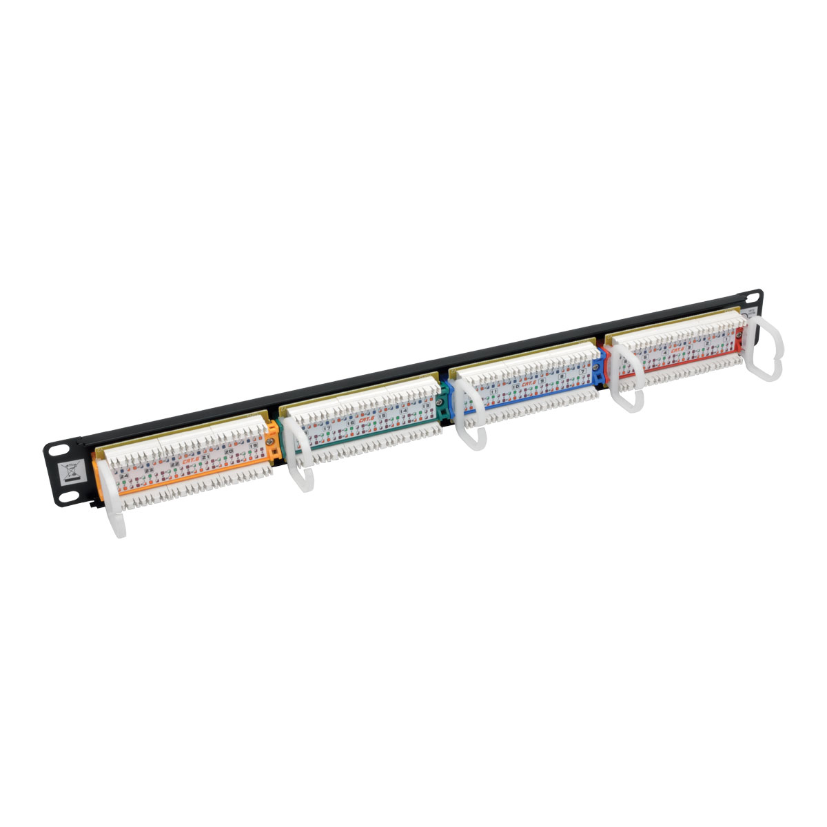 Provantage Tripp Lite N253 024 Rbgy 24 Port Cat6 Patch Panel 1urm 568b Wiring Color Coded 110 Rj45 Ethernet