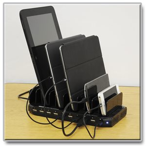 Charge Up to 10 Devices at the Same Time via USB