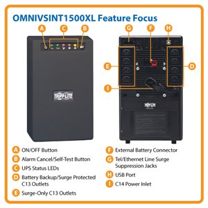 1500VA/940W Line-Interactive Power Protection for PCs and Workstations in 230V Regions