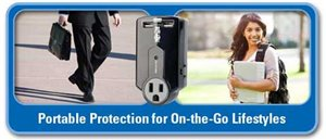 Travel Surge Protector 3 Outlet USB Charger Tablet Smartphone Ipad Iphone