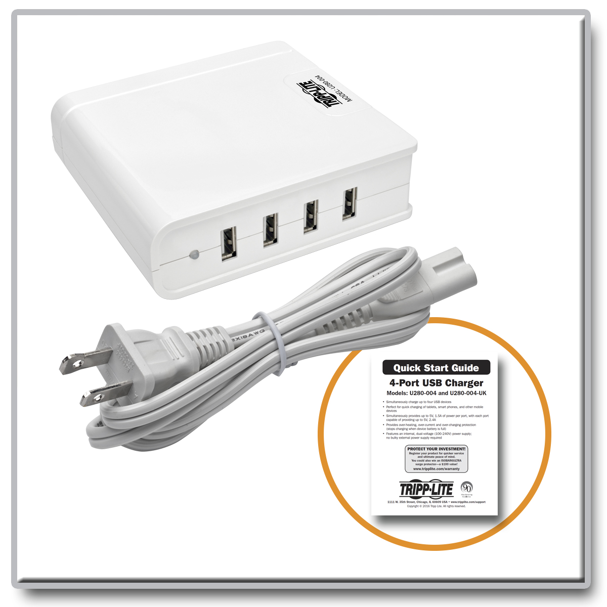 Tripp Lite 4 Port Usb Charging Station Hub 5v 6a 30w Tablet Kabel Data Samsung Galaxy Tab 1 2 Original 100 Charge Up To Electronic Devices At The Same Time Via Connection