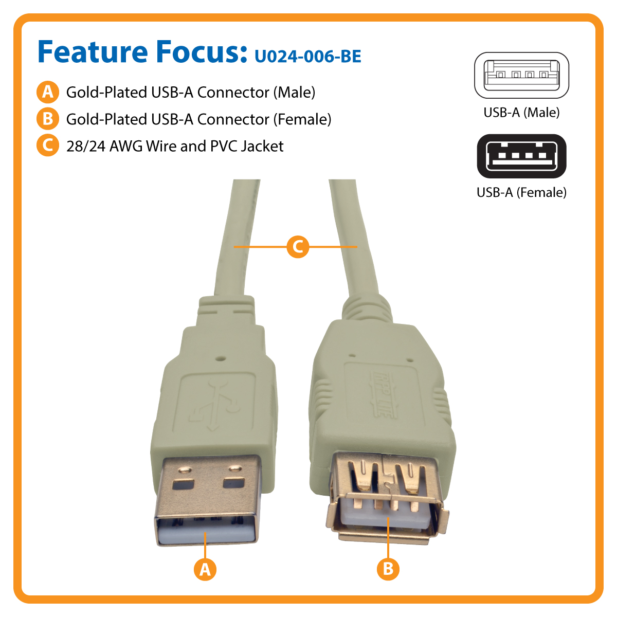 Cable Usb Extension 15m Hp Kabel Tripp Lite 20 Hi Speed M F Beige 6 Ft 18m Extends The Distance Of Your