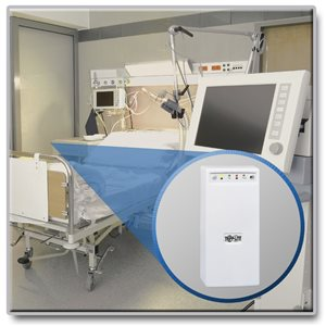 Medical-Grade, Line-Interactive 230V (350VA/225W) Power Protection for CE/IEC 60601-1 Patient Care Areas