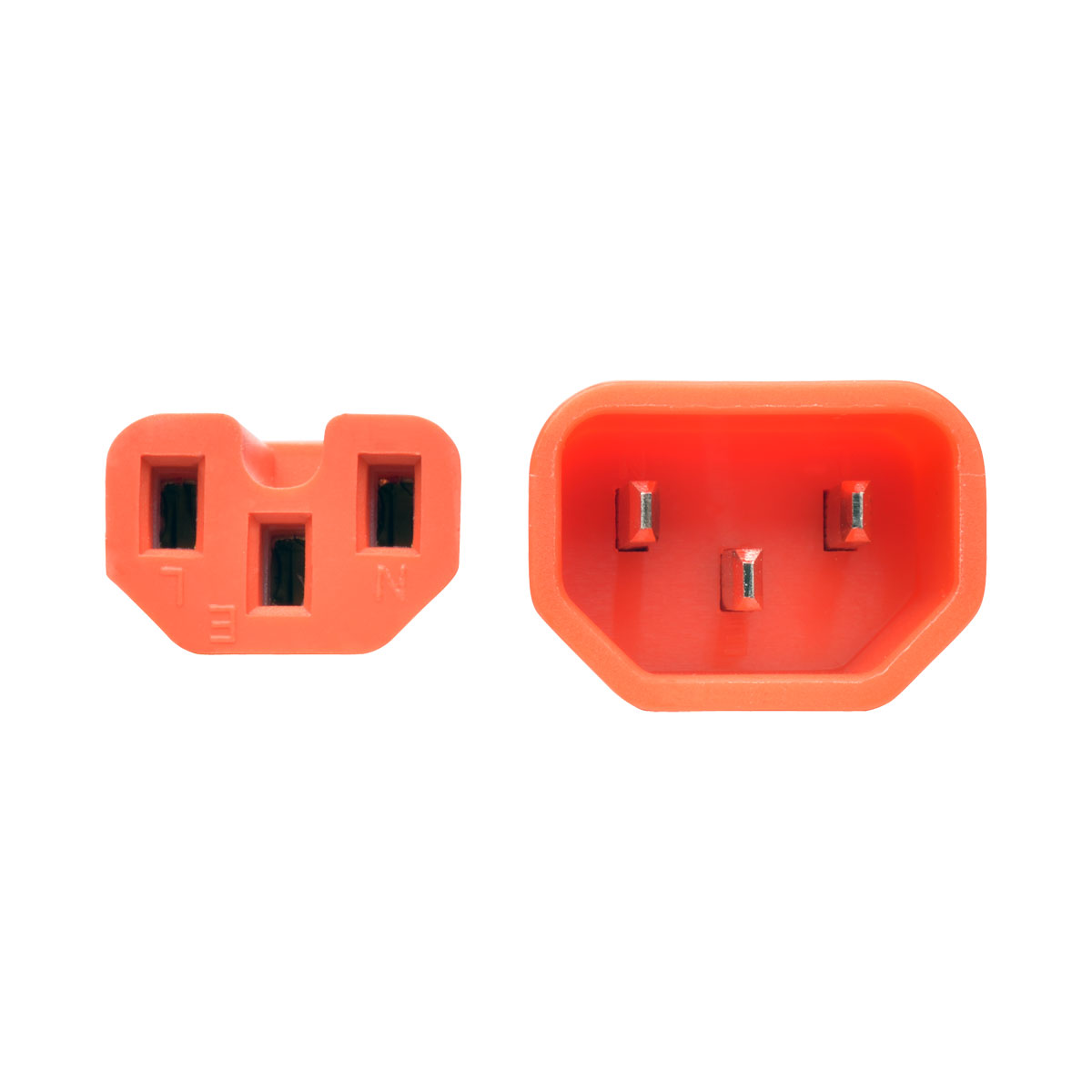 Tripp Lite Heavy Duty Computer Power Cord 15A 14AWG C14 to C15 Orange 3'