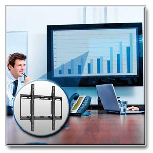 "Ideal For 26""-55"" Displays – This Fixed Wall Mount is Simple to Install & Guaranteed to Last!"
