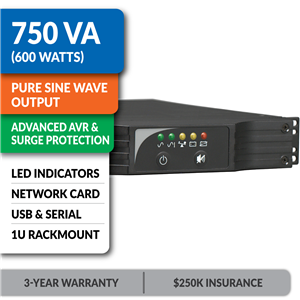 SMART750RM1UN SmartPro® Line-Interactive Rack/Tower Sine Wave UPS with Network Card