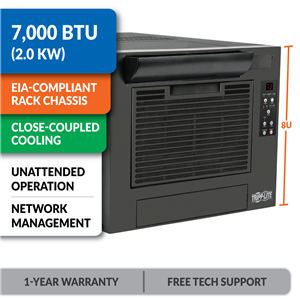 SRCOOL7KRM 7,000 BTU Rack-Mounted Air Conditioning Unit with Network Management Support