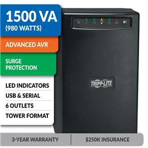 SMART1500 SmartPro® Line-Interactive Tower UPS with USB and Serial Ports