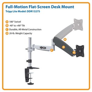 """Ideal For 13""""-27"""" Displays – This Desk Mount is Simple to Install & Guaranteed to Last!"""